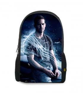 Paul walker printed backpacks